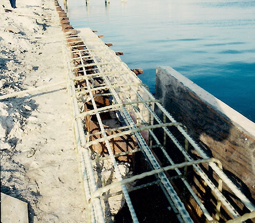 FRP Rebar used in Sea Wall